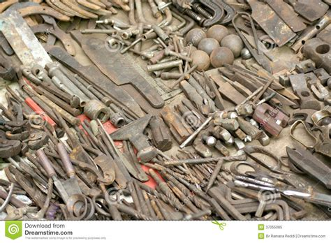 assorted tools stock image image  nail hammer pliers