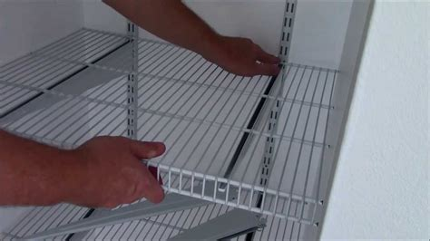 Installing Wire Closet Shelving by Install Closetmaid Shelftrack In Depth