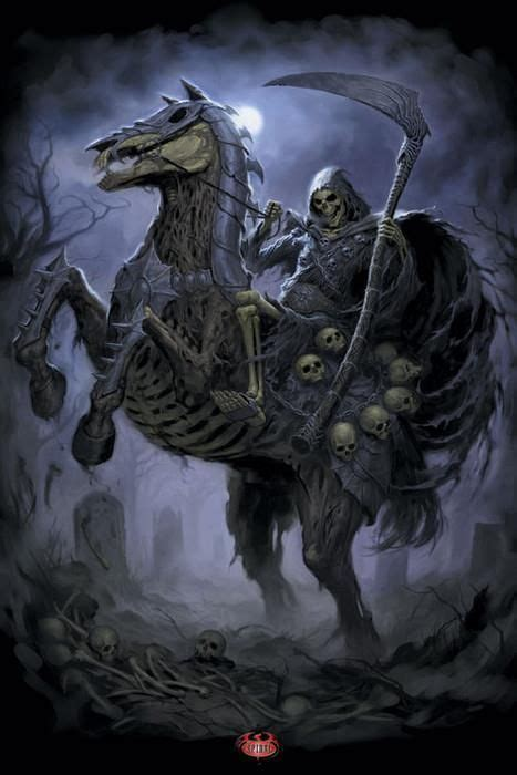grimms nightmares from the the grim reaper on his nightmare horse fantastic fun grim reaper dark art and