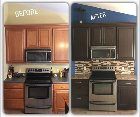 Staining Kitchen Cabinets Cost by Best 25 Rustoleum Cabinet Transformation Ideas On