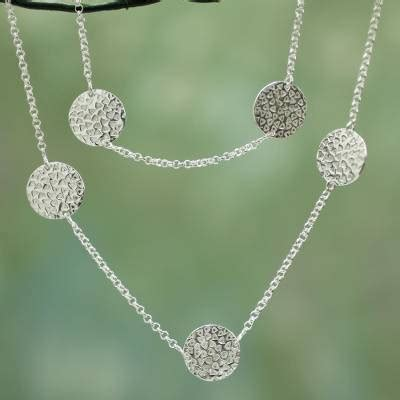 Zoe Creations Fairtrade Silver Jewellery by Fair Trade S Sterling Silver Station Necklace