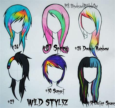 anime hairstyles crazy wild styles part 4 by rainb0w rand0m deviantart com on