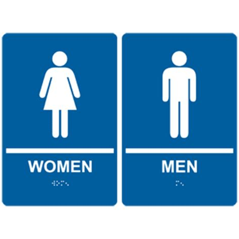 bathroom man and woman ada women men with symbol braille sign rre 125 145pair