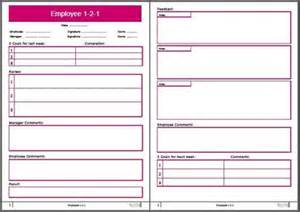 employee one on one template 1 2 1 coaching template bellcom worldwide