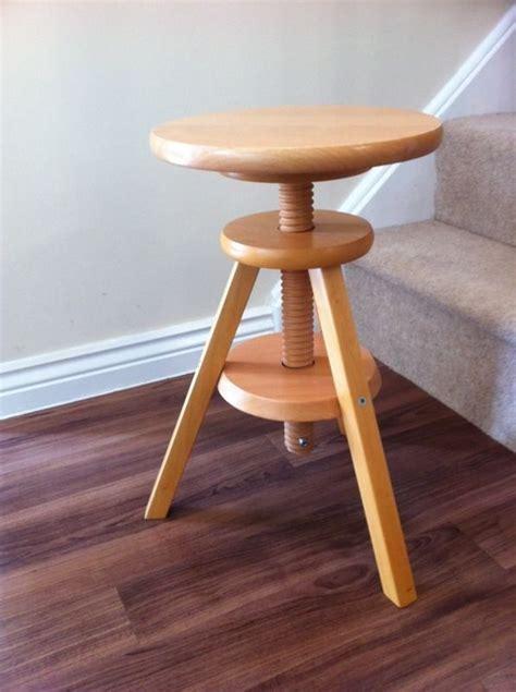Adjustable Wooden Stool by Ikea 3 Legged Wooden Stool Adjustable Seat Height In
