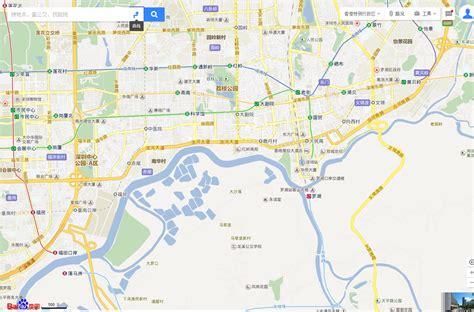 map baidu distorted maps on the hong kong china border