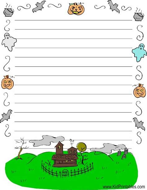 halloween writing themes 78 images about halloween stationery on pinterest