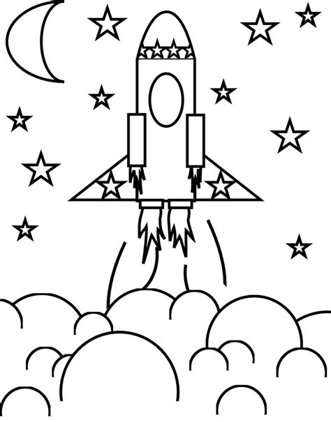 Free Coloring Pages Of Space Rocket S