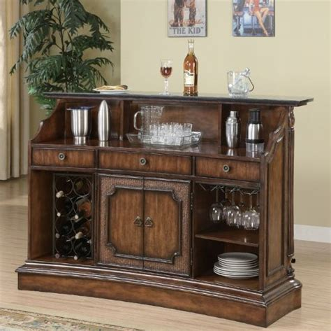 marble top bar cabinet marble top bar brown finish 3 drawers wine rack storage