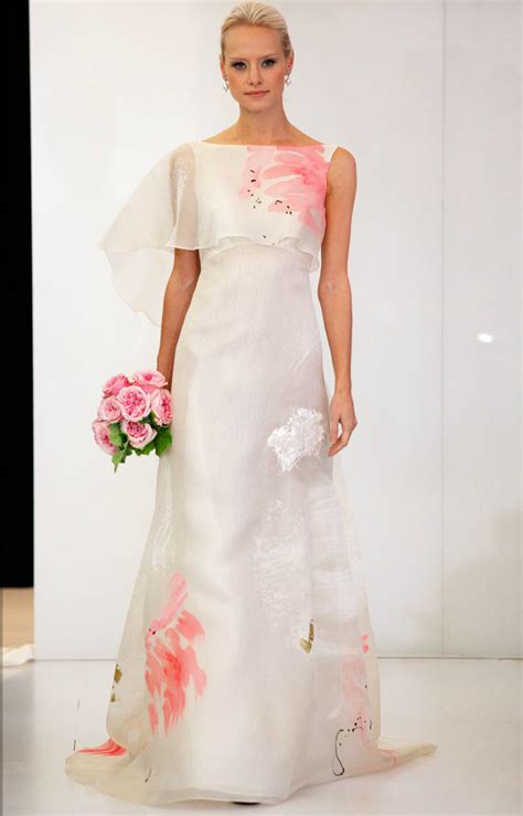 wedding dress and flower printed wedding dresses 2012 bridal gown trend onewed