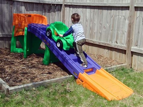 Kid Roller Coaster In Backyard Outdoor Furniture Design