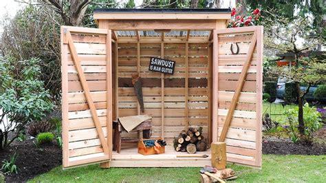 diy   build  cedar shed  goodbye  garage