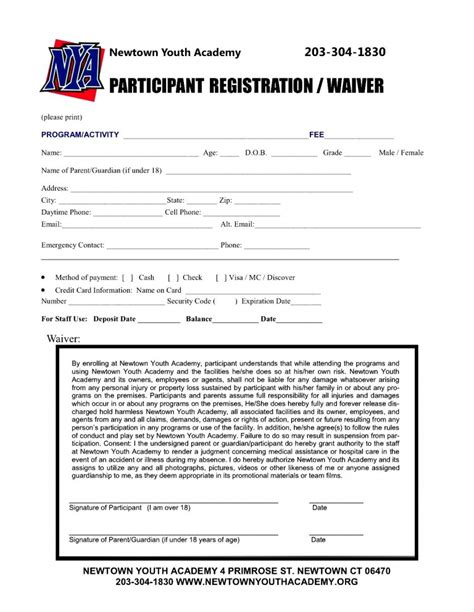 template registration form 5 best photos of summer c registration form template