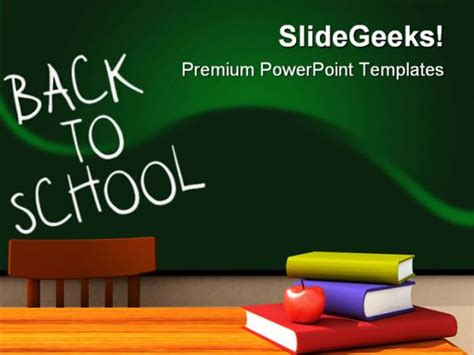 Back To School With Books Education Powerpoint Backgrounds Back To School Ppt