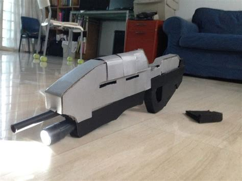 How To Make A Paper Smg - how to make a halo ma5c assault rifle prop all