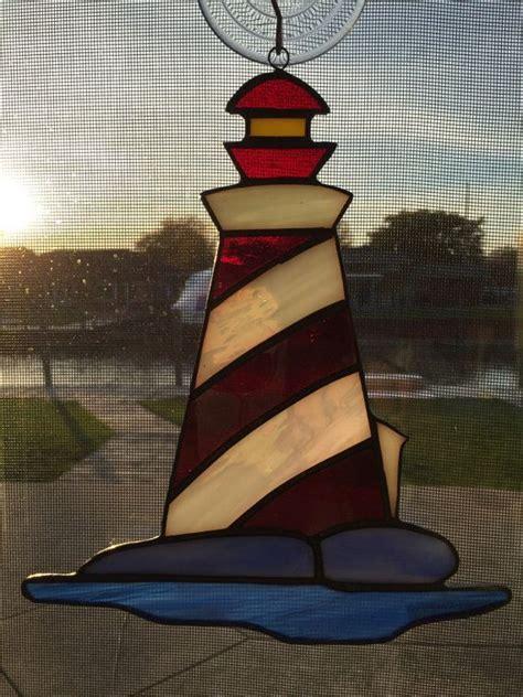 stained glass lighthouse l lighthouse stained glass sun catcher by suncatchersbysteve