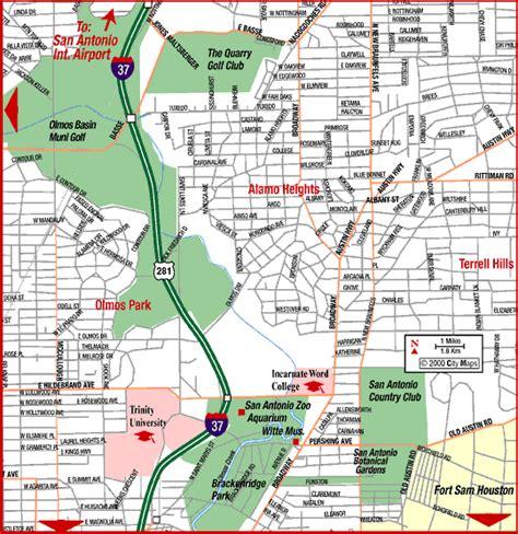 road map of san antonio texas road map of san antonio northeast san antonio texas aaccessmaps