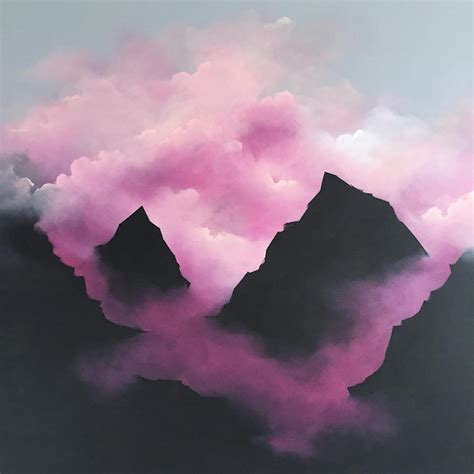 and pink dreamy pink clouds paintings6 fubiz media