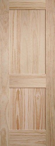 Cheap Pine Doors Interior 2 Panel Shaker Pine Interior Wood Door Slab Modern Feel Discount Interior Doors