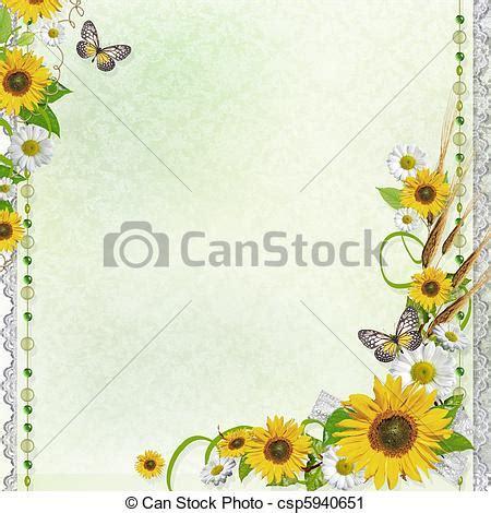 cornici di fiori clipart di estate cornice 1 set fondo fiori