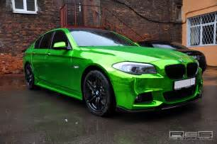 bmw 5 series in green chrome