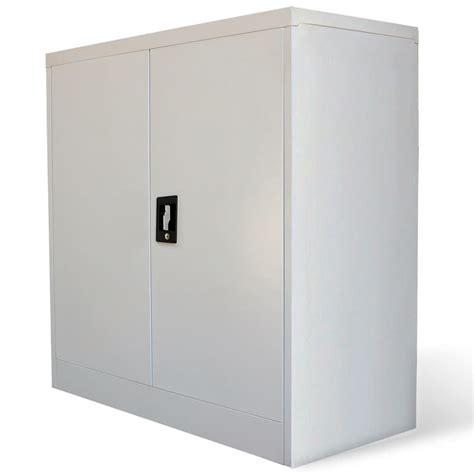 metal office cabinets with doors vidaxl co uk metal office cabinet 2 doors 90 cm grey