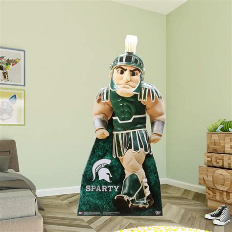 spartan home decor sparty life size stand out cut out shop fathead for