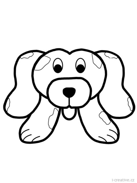 coloring pages of dog head pin dog head coloring page on pinterest