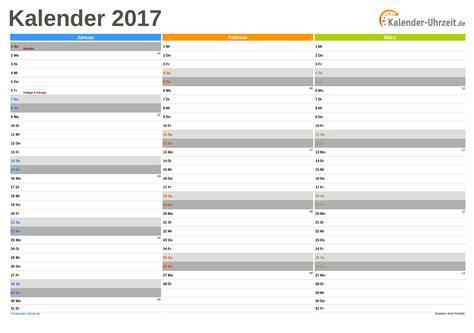 Kalender 2017 Wochenansicht Kalender 2017 Zum Ausdrucken Kostenlos