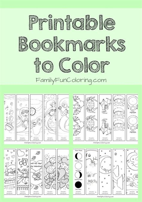 Printable Free Books | printable bookmarks to color free printable coloring