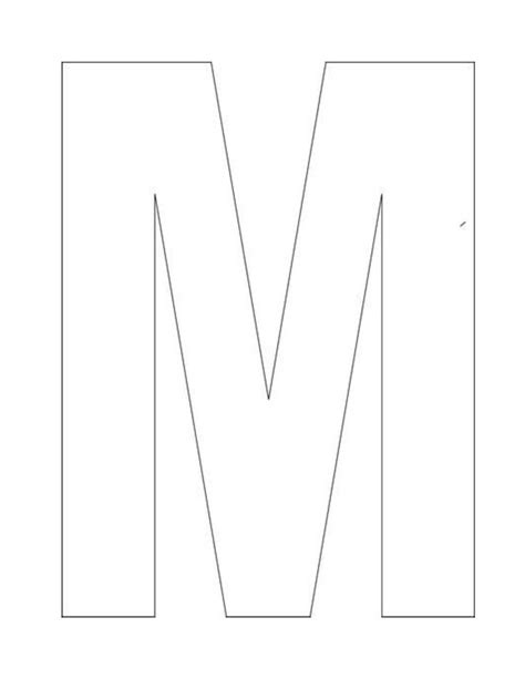 Buchstabe M Vorlage by Letter M Template Letter Factory