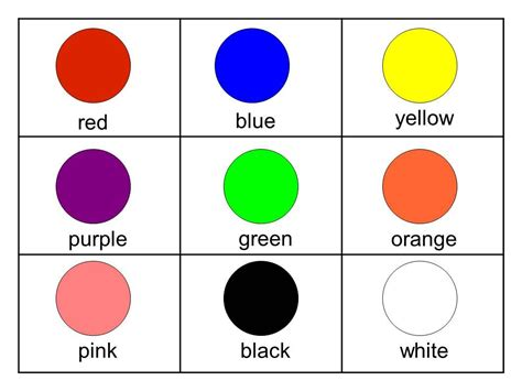 toddler color chart flashcards for printable free free flashcards