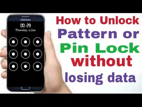 pattern unlock without losing data how to unlock android pattern lock without losing data