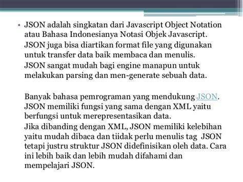 format json adalah tugas 3 0317 reza w ibawa 1412511410