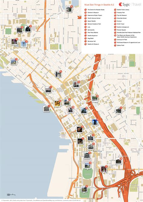 map of seattle area seattle area map
