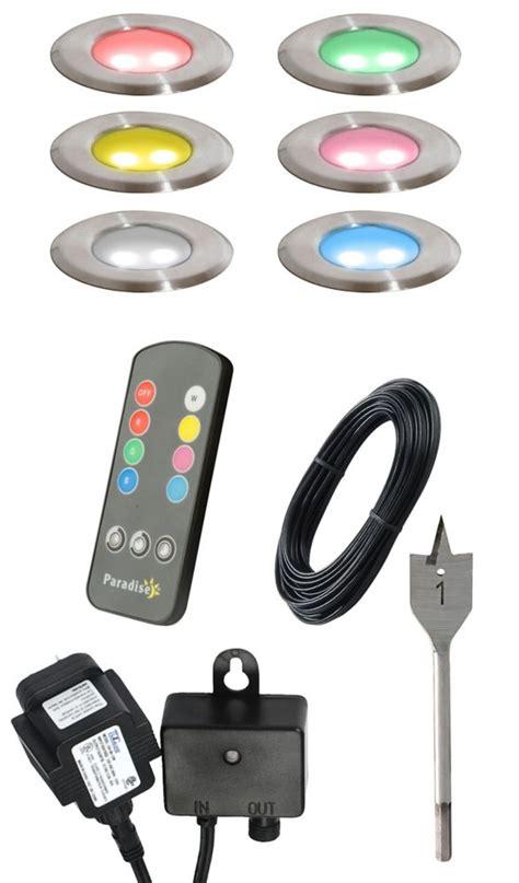 multi color led lighting kit paradise 6pk multi color led deck light kit the home
