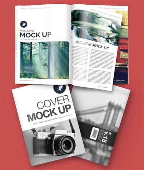design free magazine magazine mockup designs in editable psd templates