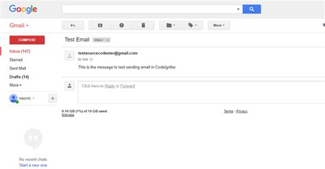 codeigniter tutorial user registration codeigniter send email using smtp free source code