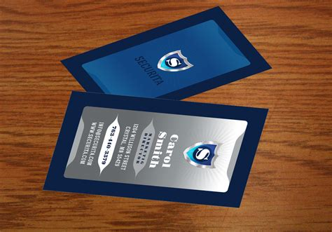 silver  navy business card template psd pack