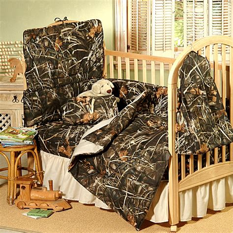 Camouflage Baby Crib Bedding Set by Max 4 Realtree Indoors Camo Baby Crib Bedding Set