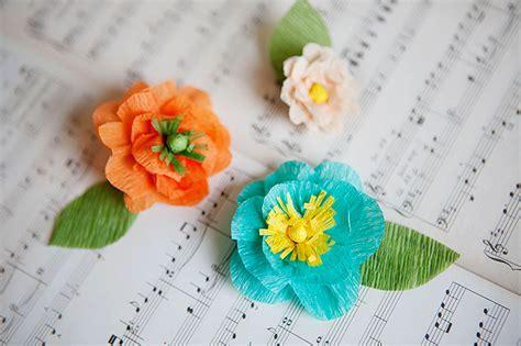 Flower Using Crepe Paper - diy crepe paper flowers