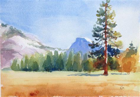 watercolor tutorial seascape beginner landscape watercolor paintings www imgkid com