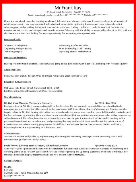 curriculum vitae what should a curriculum vitae look like