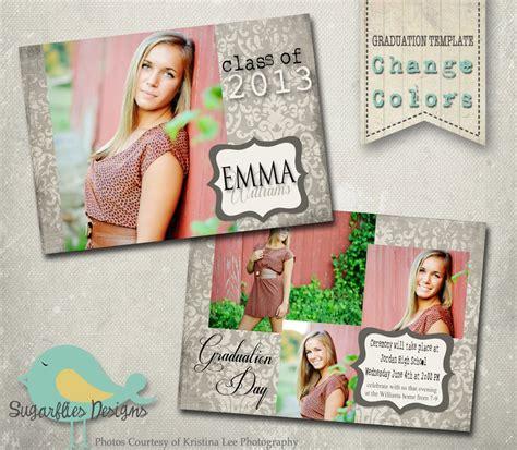 Graduation Announcement Photoshop Template Senior Graduation Graduation Photo Announcements Templates
