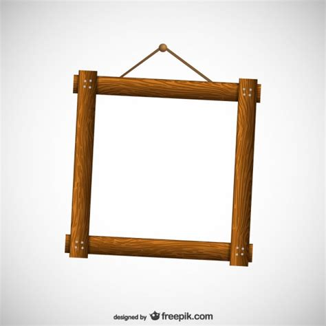 wood frame design vector wooden frame vector free download