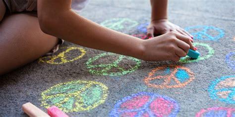 sidewalk chalk  kids fun colored sidewalk chalk