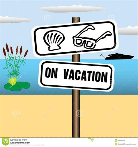 On Vacation On Vacation Plate Stock Images Image 33006024