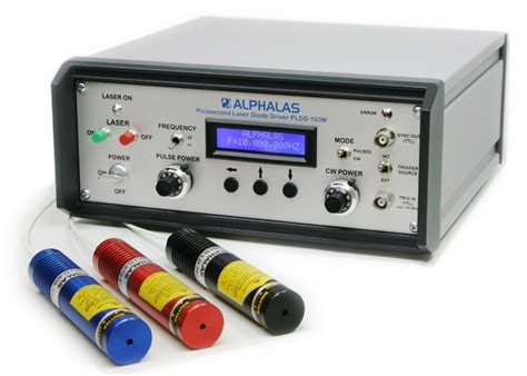 laser diode pulse driver alphalas picosecond pulse diode lasers with driver picopower ld series