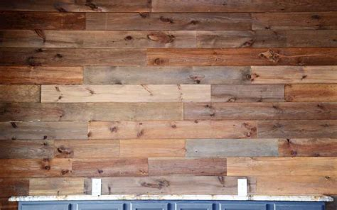 diy an easy wood plank wall using pine flooring we speak diy