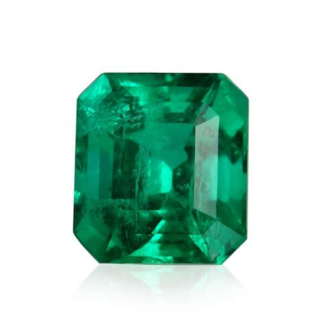 carat green colombian emerald emerald shape grs